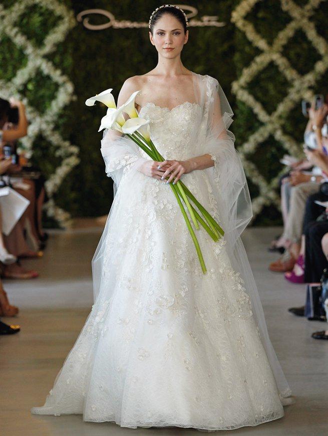 Oscar bridal look 15