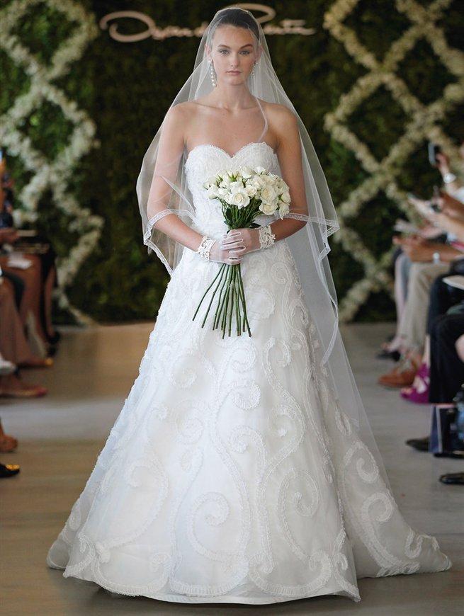 Oscar bridal look 8